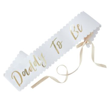 Daddy to Be Baby Shower Sash